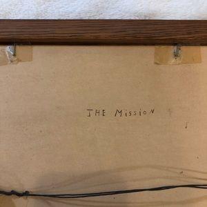 Vintage Wall Art - Vintage Paint by Number 'The Mission' Framed Art